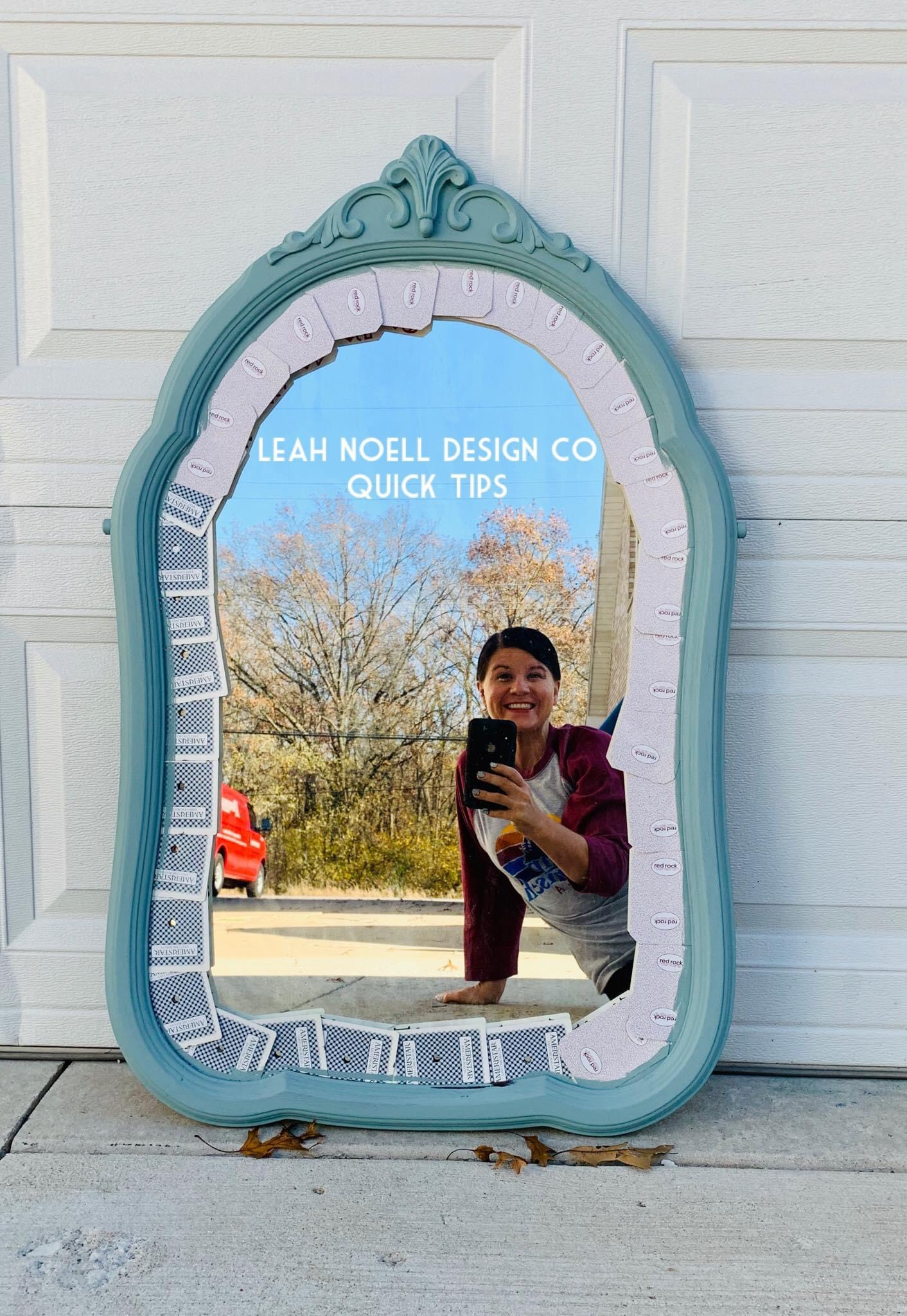 How to paint a mirror frame diy