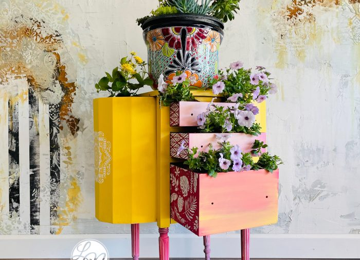 Repurposed Planter from used furniture