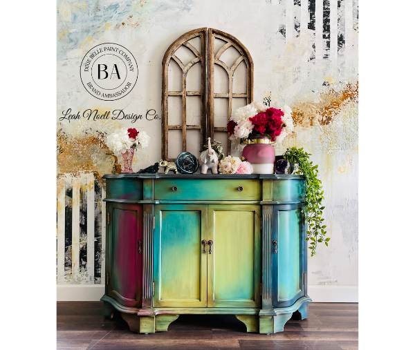 Bohemian Painted Pressboard Buffet